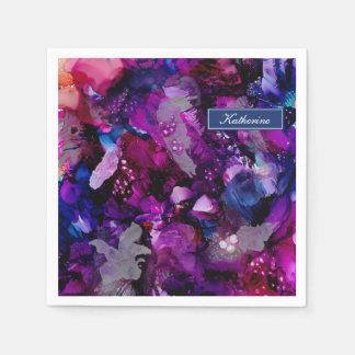 Servilletas De Papel Púrpura dramática del extracto de las tintas