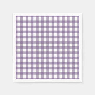 Servilletas De Papel Púrpura y modelo comprobado blanco de la guinga