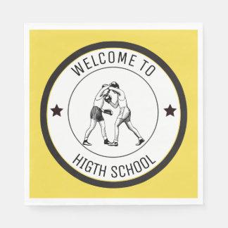 Servilletas De Papel Recepción a la High School secundaria