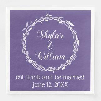 Servilletas De Papel Recepción púrpura simple del boda ultravioleta