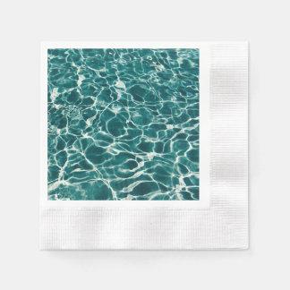 Servilletas De Papel Reflexiones de la aguamarina del agua de la