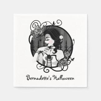 Servilletas De Papel Retrato gótico del vampiro del Victorian