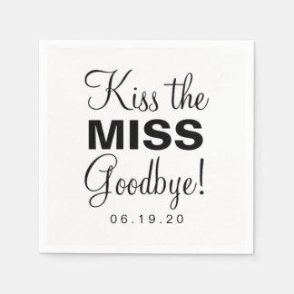 Servilletas De Papel Servilleta - bese a la Srta. Goodbye