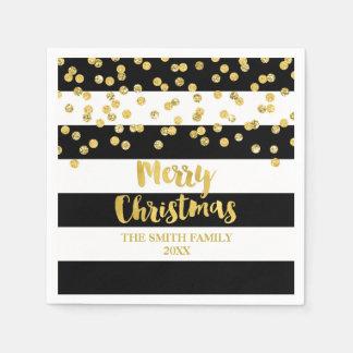 Servilletas De Papel Servilleta de las Felices Navidad del confeti del