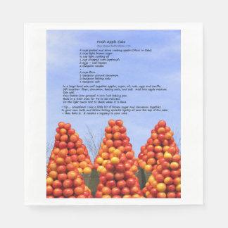 Servilletas De Papel Servilleta de papel de la receta de la tarta de