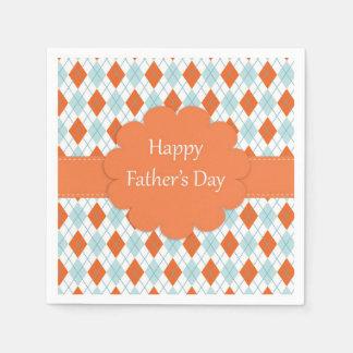 Servilletas De Papel Servilletas anaranjadas y azules del día de padre