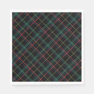 Servilletas De Papel Servilletas de la tela escocesa del día de fiesta