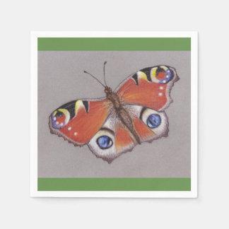 Servilletas De Papel Servilletas del cóctel de la mariposa de pavo