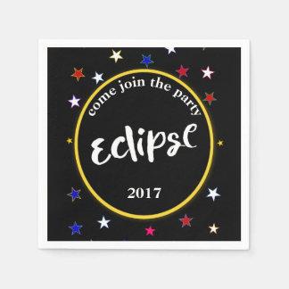 Servilletas De Papel Servilletas del eclipse y del fiesta de las