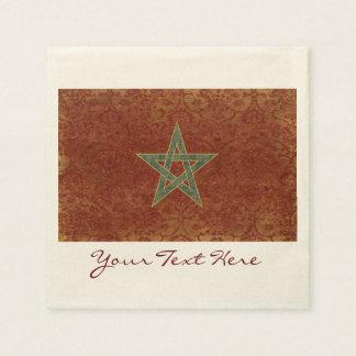 Servilletas De Papel Servilletas del fiesta de la bandera de Marruecos