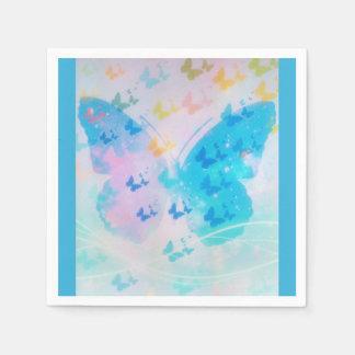 Servilletas De Papel Servilletas nubladas de la mariposa