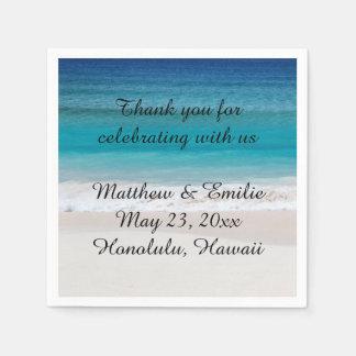 Servilletas De Papel Servilletas personalizadas del boda de playa