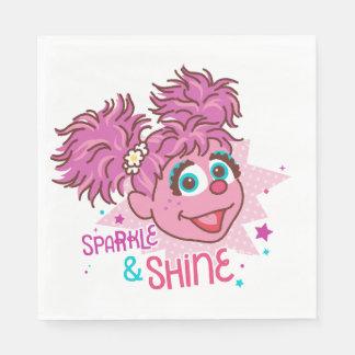 Servilletas De Papel Sesame Street el | Abby Cadabby - chispa y brillo