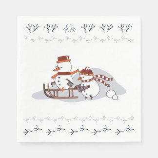 Servilletas De Papel Snowbirds en trineo, servilletas