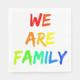 Servilletas De Papel Somos adopción del arco iris de la familia,