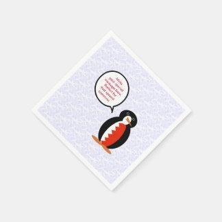 Servilletas De Papel Sr. de Bahrein Penguin del día de fiesta