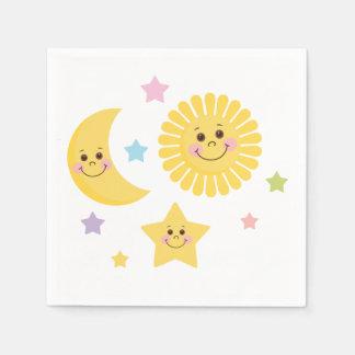Servilletas De Papel Sun, luna y estrellas