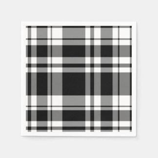 Servilletas De Papel Tela escocesa blanco y negro