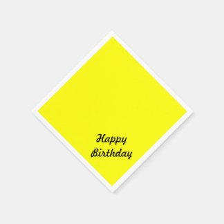 Servilletas De Papel Texto de encargo amarillo de neón fluorescente