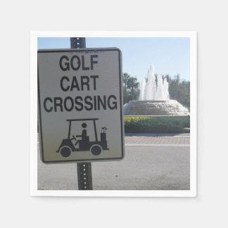 Servilletas De Papel Travesía del carro de golf
