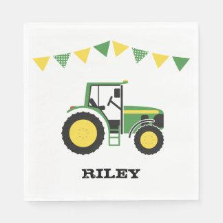 Servilletas de papel verdes de la fiesta de