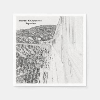 """Servilletas De Papel Viaduct """"La polvorilla"""" (Pencil design)"""
