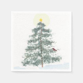 Servilletas del árbol de navidad servilletas de papel