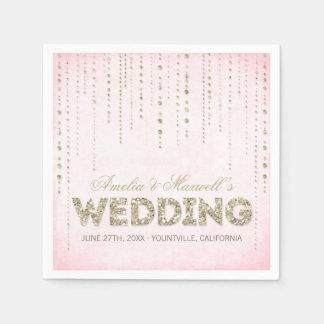 Servilletas del boda de la mirada del brillo del o servilletas de papel