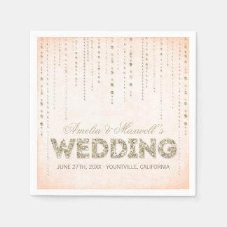 Servilletas del boda de la mirada del brillo del o servilletas desechables