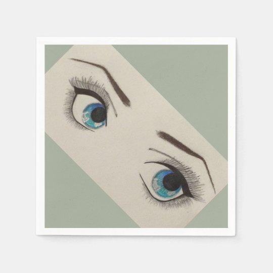 Servilletas del cóctel del ojo servilleta de papel