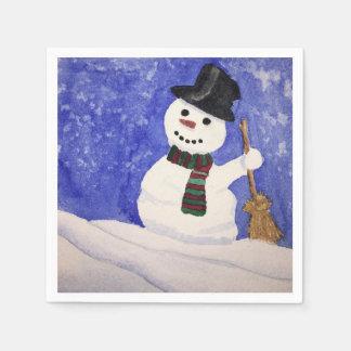 Servilletas del muñeco de nieve servilletas de papel
