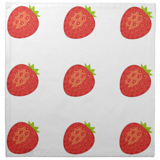 Servilletas del paño de la fresa