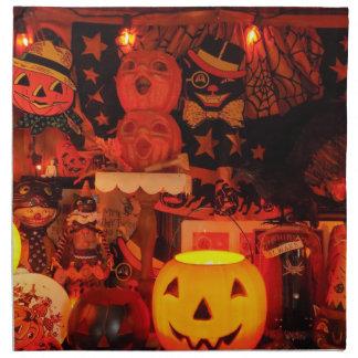 Servilletas del vintage de un paño de Halloween