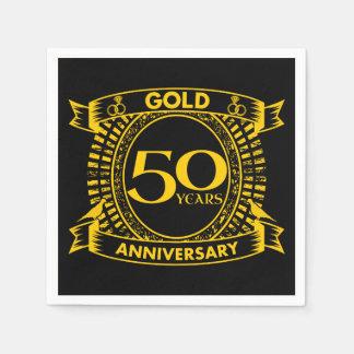 Servilletas Desechables 50.o Aniversario de boda del oro