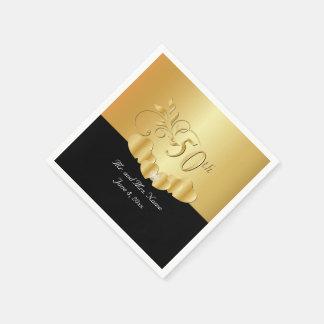 Servilletas Desechables 50.o Texto del aniversario de boda de oro el | DIY