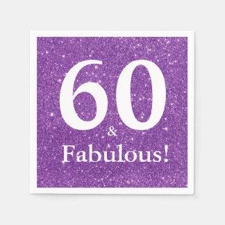 Servilletas Desechables ¡60 y fabuloso! Sexagésimo cumpleaños del