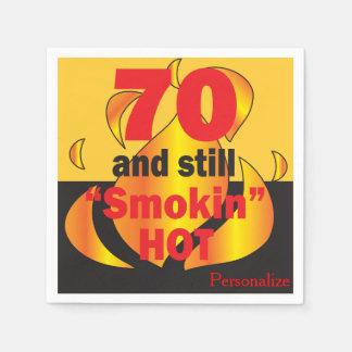 Servilletas Desechables 70 y aún cumpleaños caliente de Smokin el | 70.o