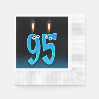 Servilletas Desechables 95.a vela del cumpleaños con los globos del ojo