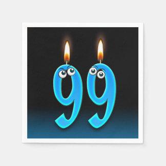 Servilletas Desechables 99.a vela del cumpleaños con los globos del ojo