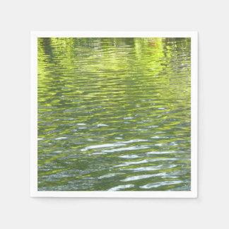 Servilletas Desechables Aguas de la cala del roble amarillas y foto verde