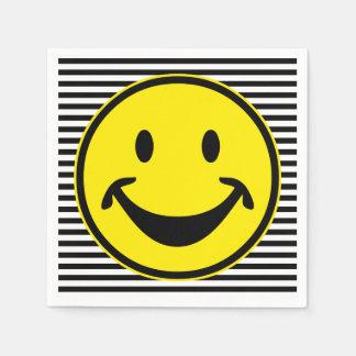Servilletas Desechables Amarillo sonriente divertido y rayas + su backg. y