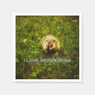 Servilletas Desechables Amo servilletas de los groundhogs