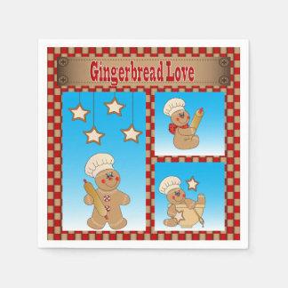 Servilletas Desechables Amor de la galleta del pan de jengibre del navidad