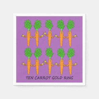Servilletas Desechables Anillo de oro de diez zanahorias