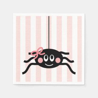 Servilletas Desechables Araña con el arco rosado