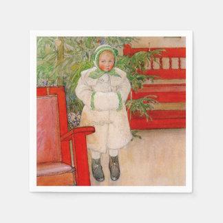 Servilletas Desechables Árbol de navidad y niño en piel