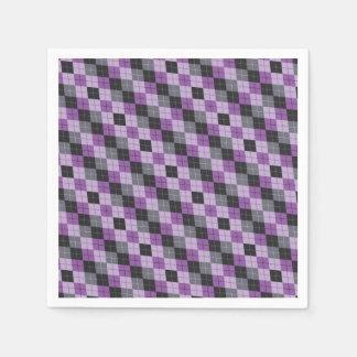 Servilletas Desechables Argyle púrpura