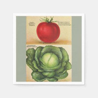 Servilletas Desechables Arte vegetal del jardín del vintage, 1913