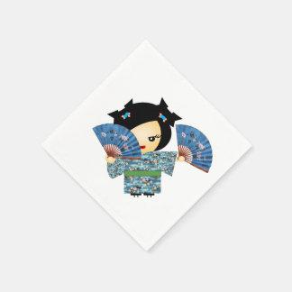 Servilletas Desechables Azul del geisha