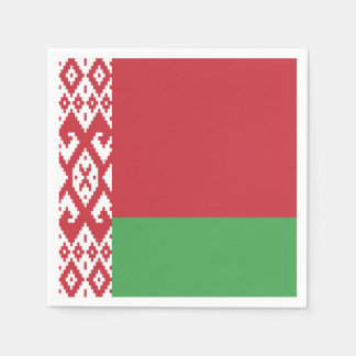 Servilletas Desechables Bandera bielorrusa patriótica
